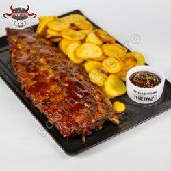 Pork ribs și cartofi chips